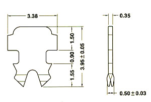 4.端子2-007多/單蕊線共用二叉型端子 Two prongs pin for solid and stranded wire