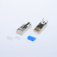 P8-M10 M-8P8C-F Shielded With cable clip 2 Inserts